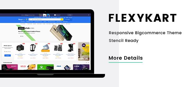 FlexyKart – Premium Responsive Bigcommerce Template (Stencil Ready)